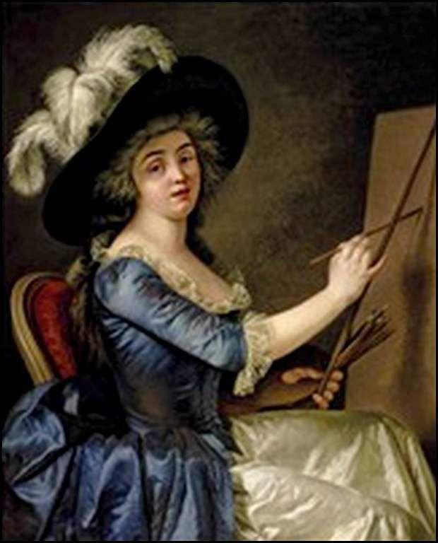 portrait de femme  à son chevalet