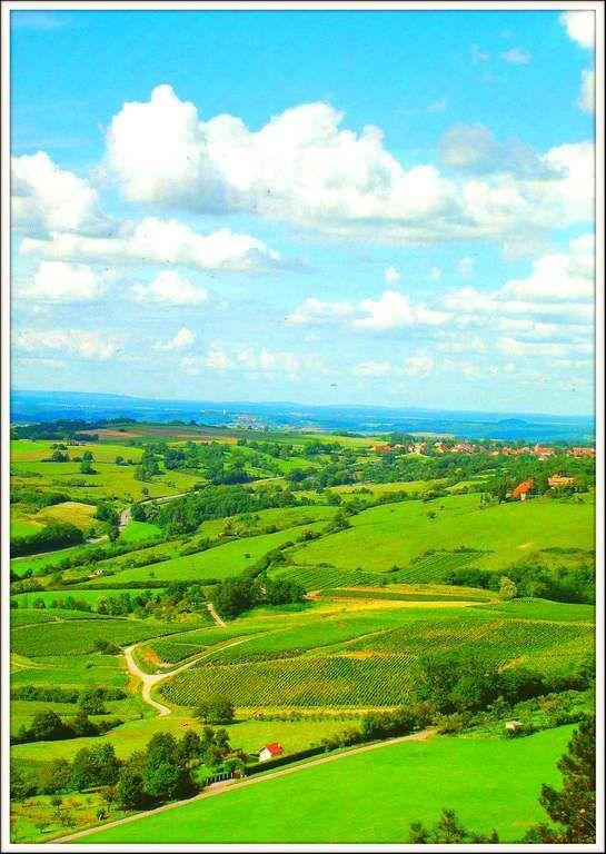 Poligny -depuis le Toc Genoux Jura -