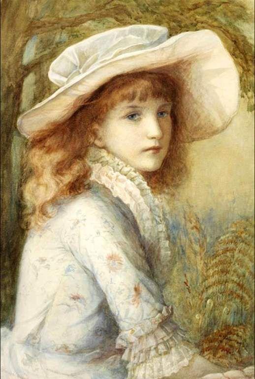 Portrait de jeune fille à chapeau