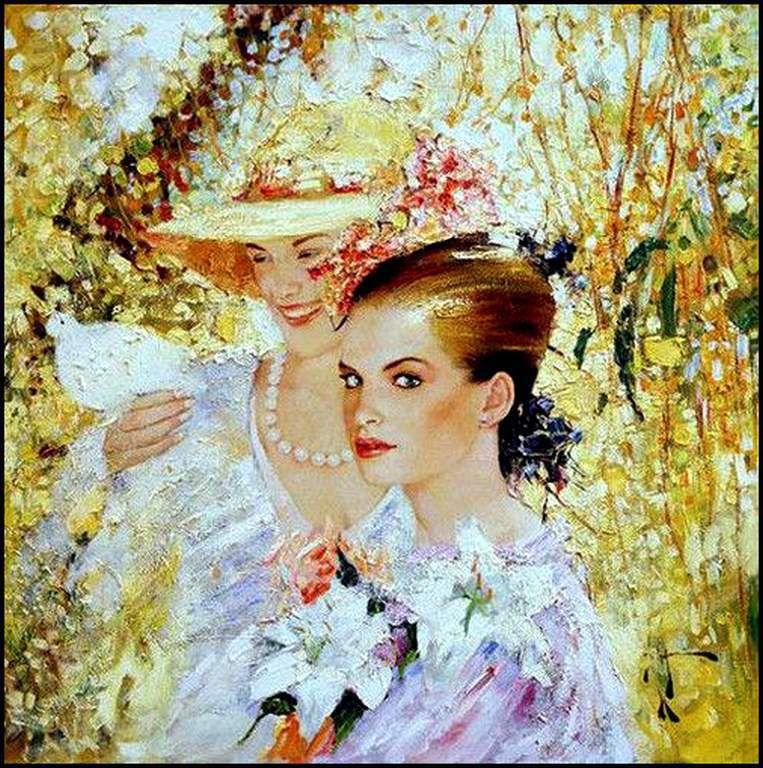 Femmes à chapeau par les grands peintres (132)