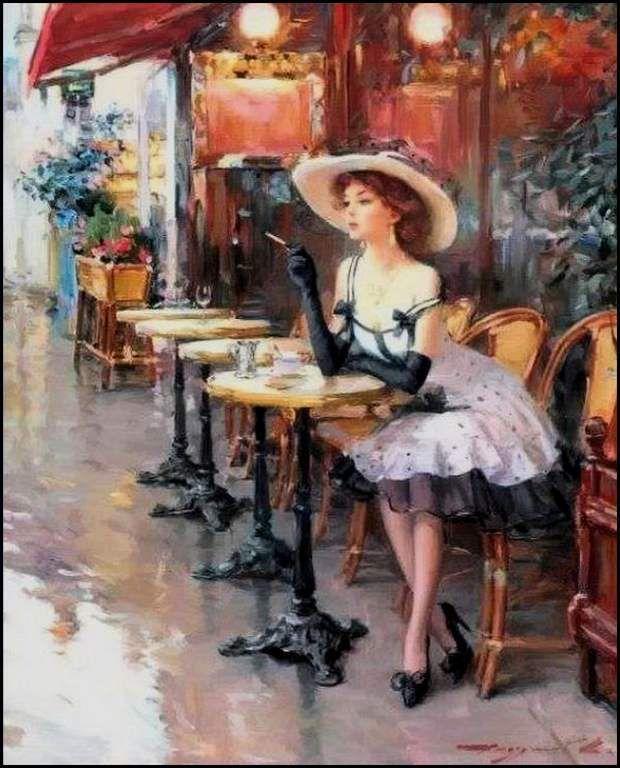 Femmes à chapeau par les grands peintres (144)