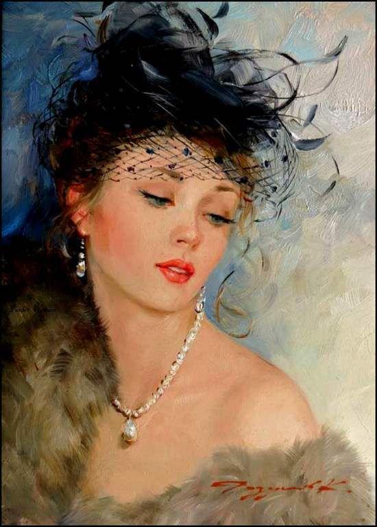Femmes à chapeau par les grands peintres (146)