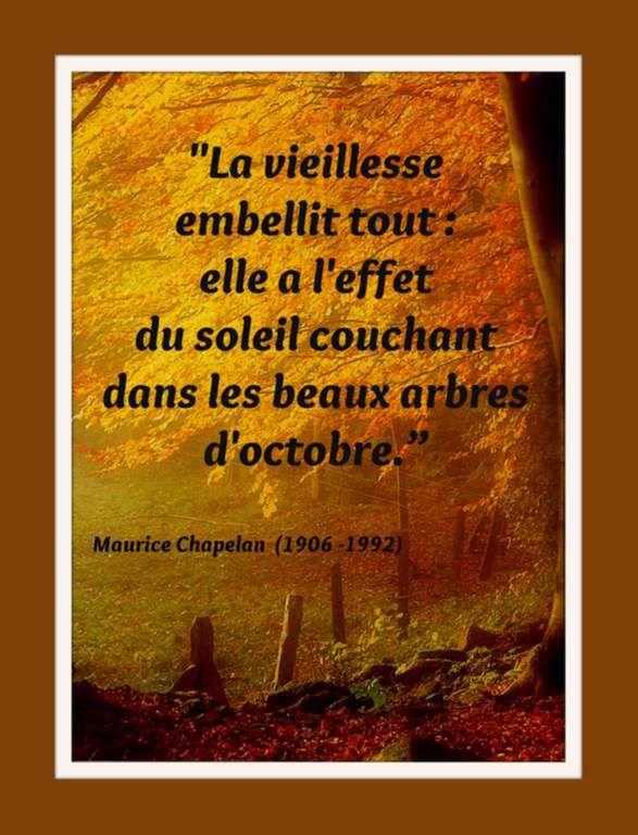 Citation &quot&#x3B;octobre&quot&#x3B; de Maurice Chapelan