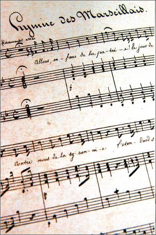 Manuscrit de la Marseillaise de Rouget de Lisle - Musée de Lons Le Saunier