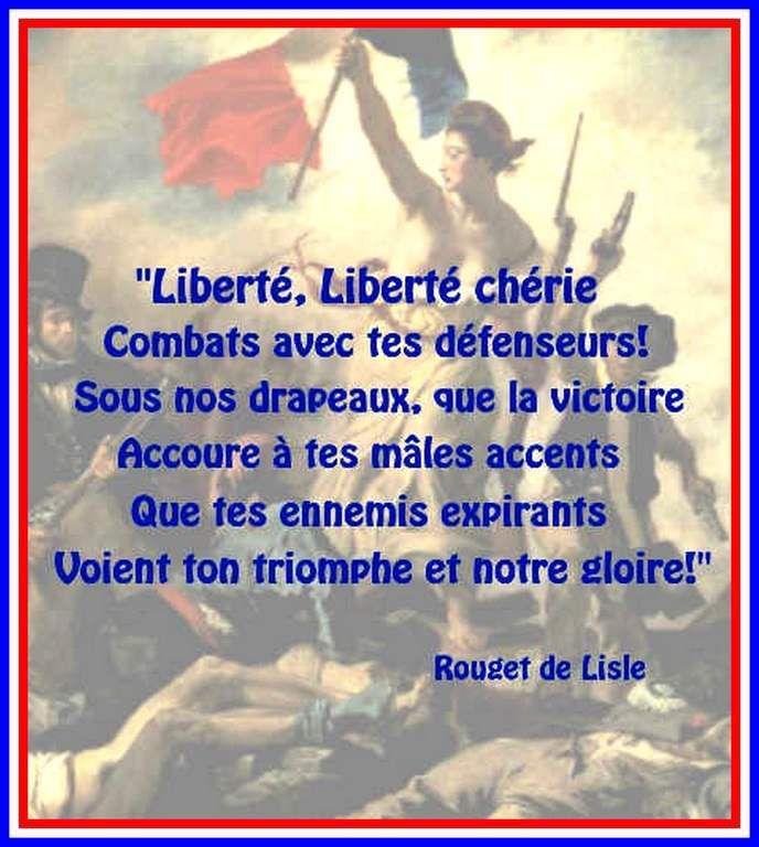 Citation &quot&#x3B;Liberté&quot&#x3B; de Rouget de Lisle