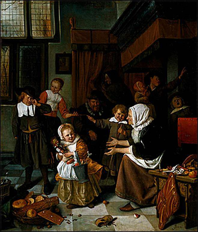 La Saint Nicolas - jan-steen (1626-1679)