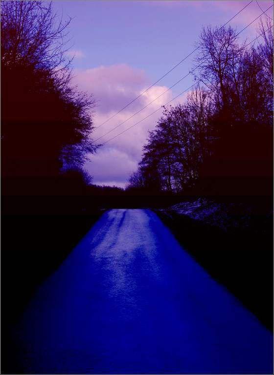Soir d'hiver - Evans - Jura