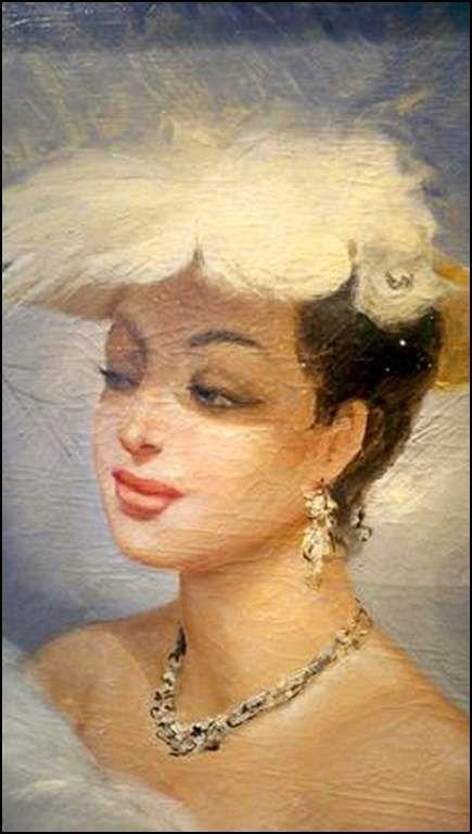 Femmes à chapeau par les grands peintres (197)