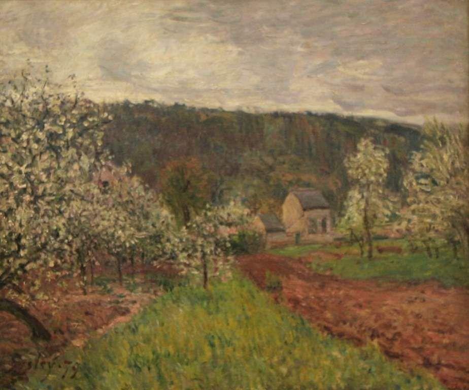 printemps aux environs de paris -- pommiers en fleurs