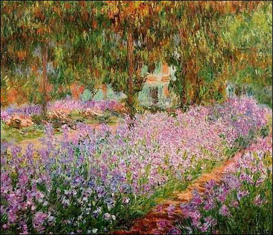 3 Claude Monet iris au printemps à Giverny