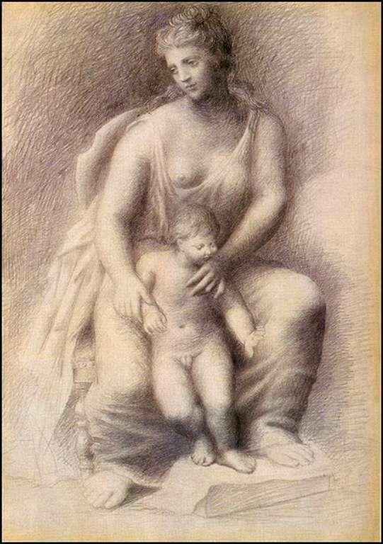 Mère et enfant Année 1921