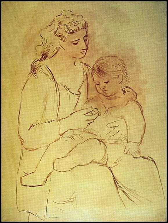Mère et enfant Année 1930