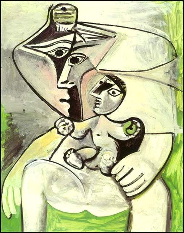 mère et enfant pomme de maternité 1971