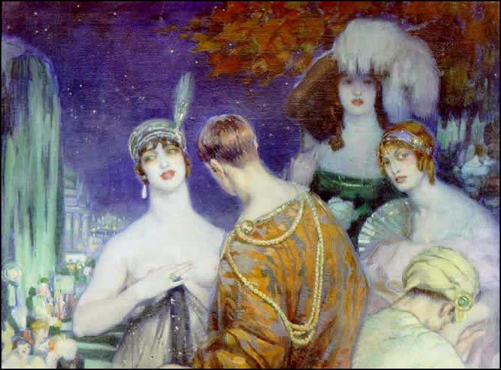 Femmes à chapeau par les grands peintres (215)