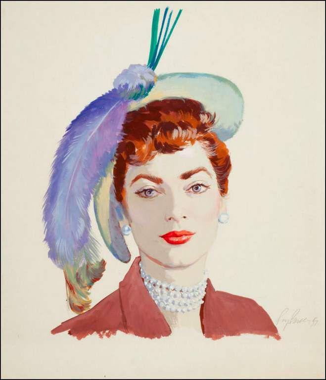 Femmes à chapeau par les grands peintres (216)