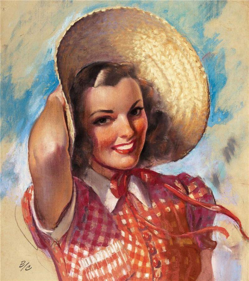 Femmes à chapeau par les grands peintres (224)