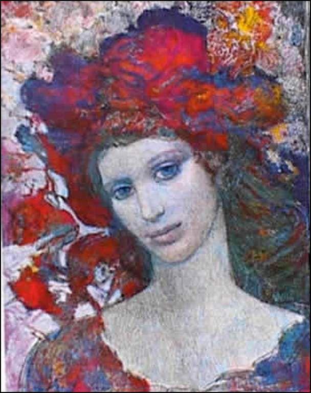 Femmes à chapeau par les grands peintres (239)