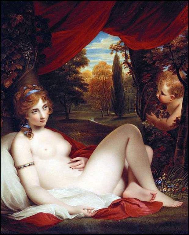 Nymphe et Cupidon