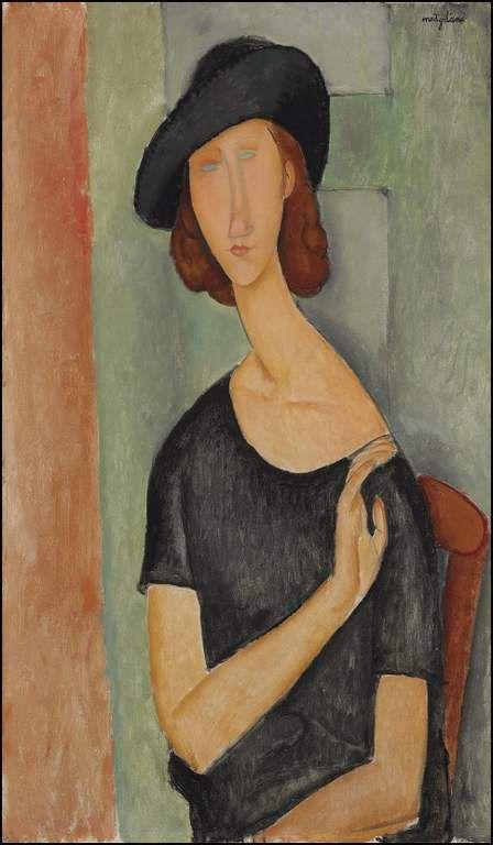 Jeanne Hébuterne au grand chapeau 1919