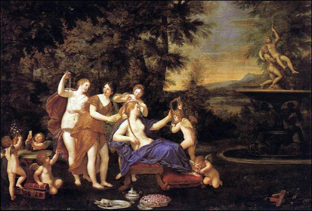 Venus entourée par les nymphes et Cupidon