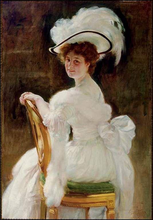 portrait d'une femme élégante