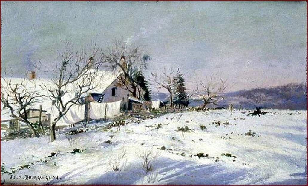 neige et soleil en Morvan