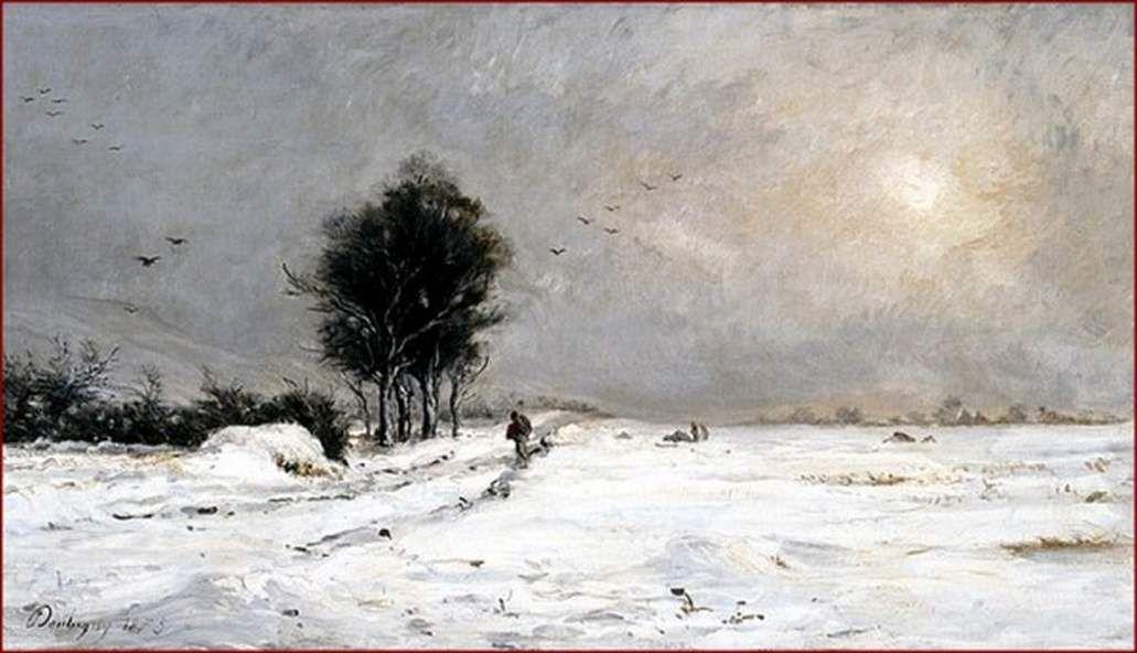 une scène de neige -Valmondois