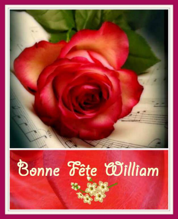 Bonne fête William