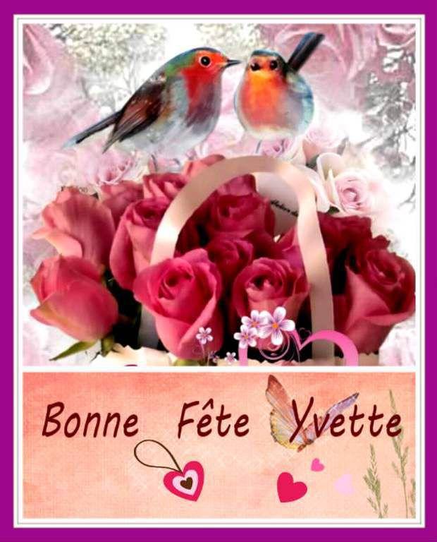 Bonne fête Yvette