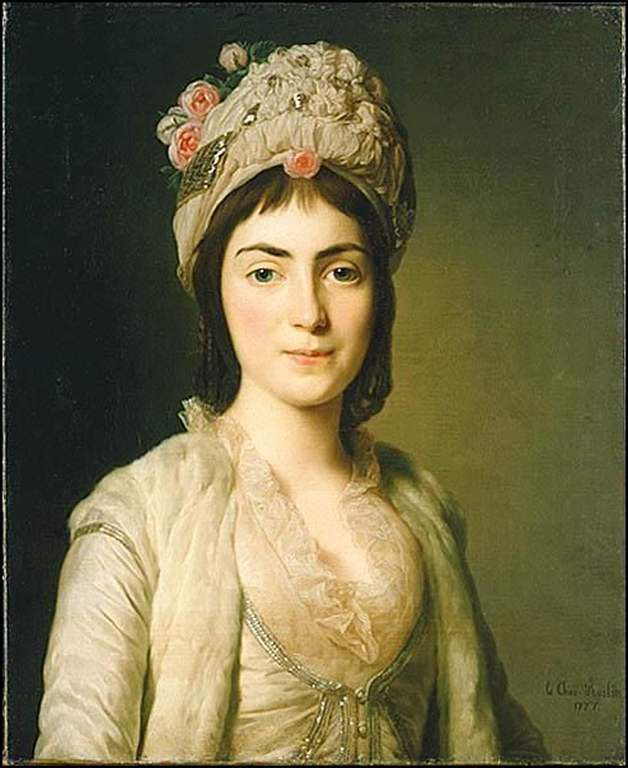Portrait of Zoie Ghika, Moldavian princess 1777