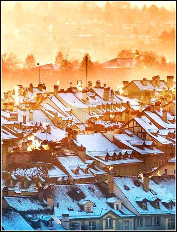 Paysage de neige - Berne - Suisse