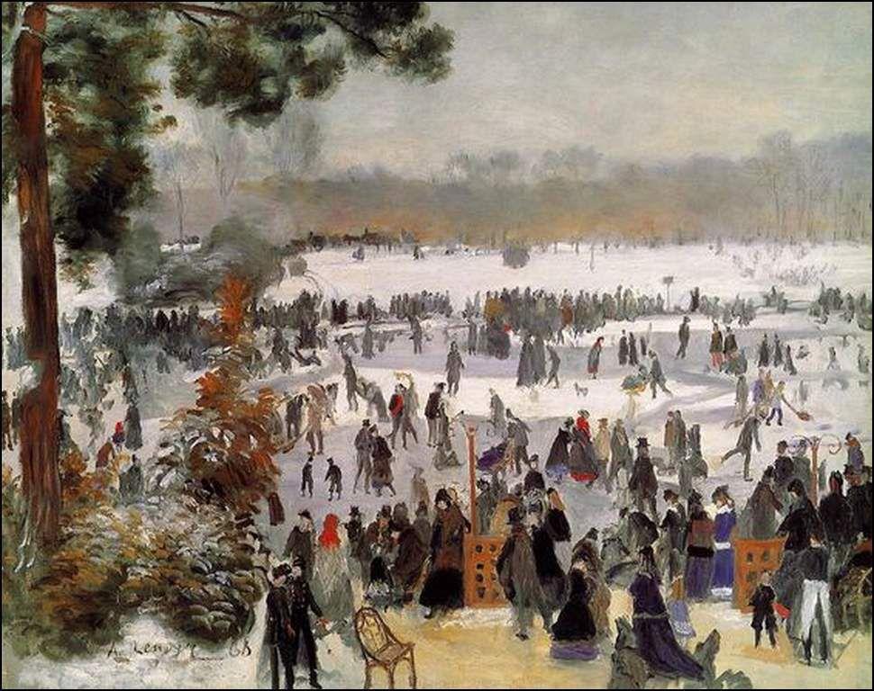 Patineurs au bois de Boulogne 1868,