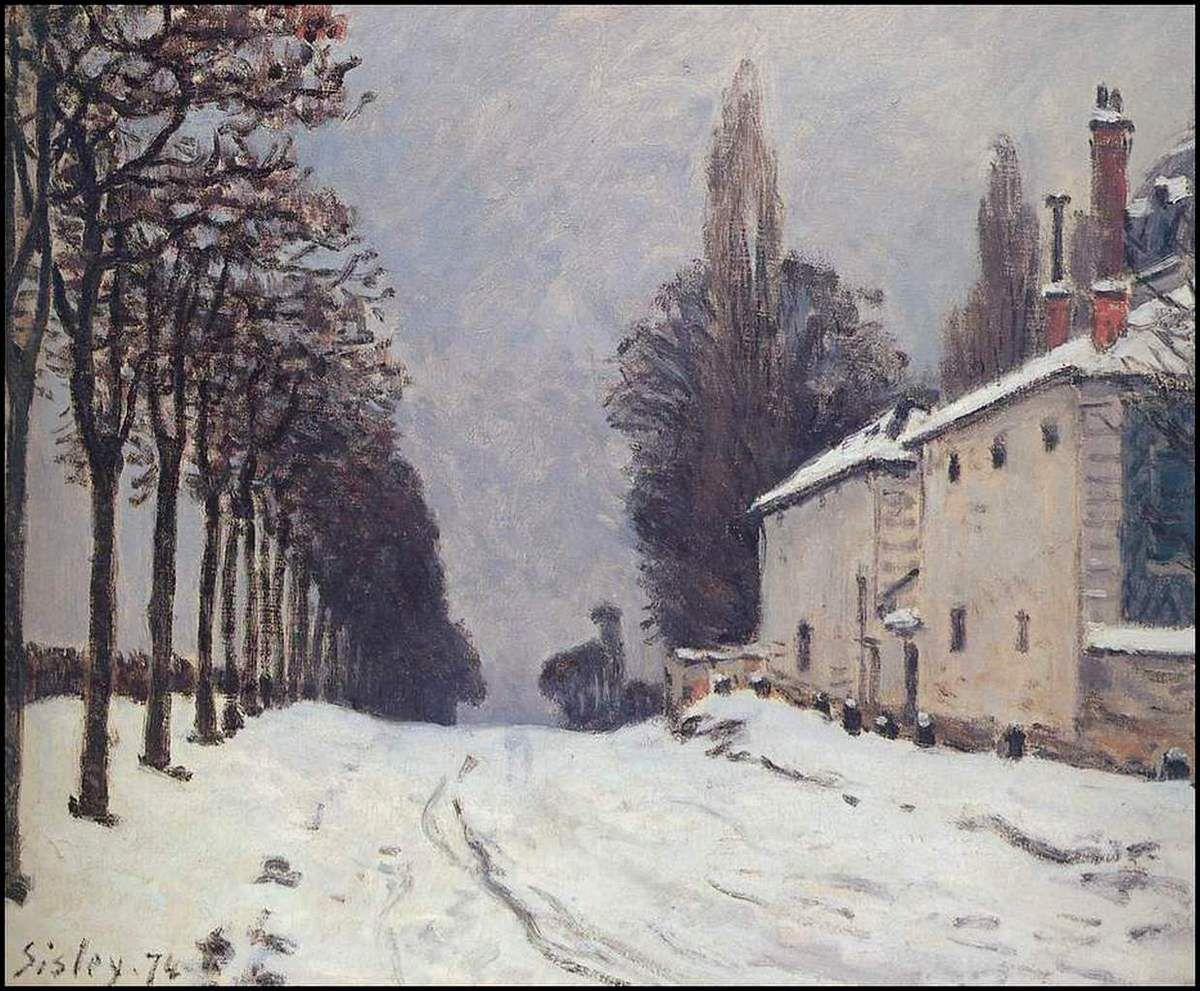 Neige sur la route de Louveciennes