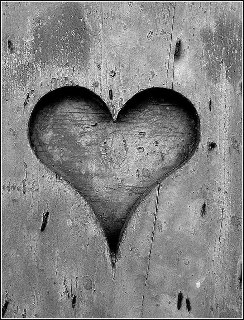 Noir et blanc &quot&#x3B;coeur&quot&#x3B;