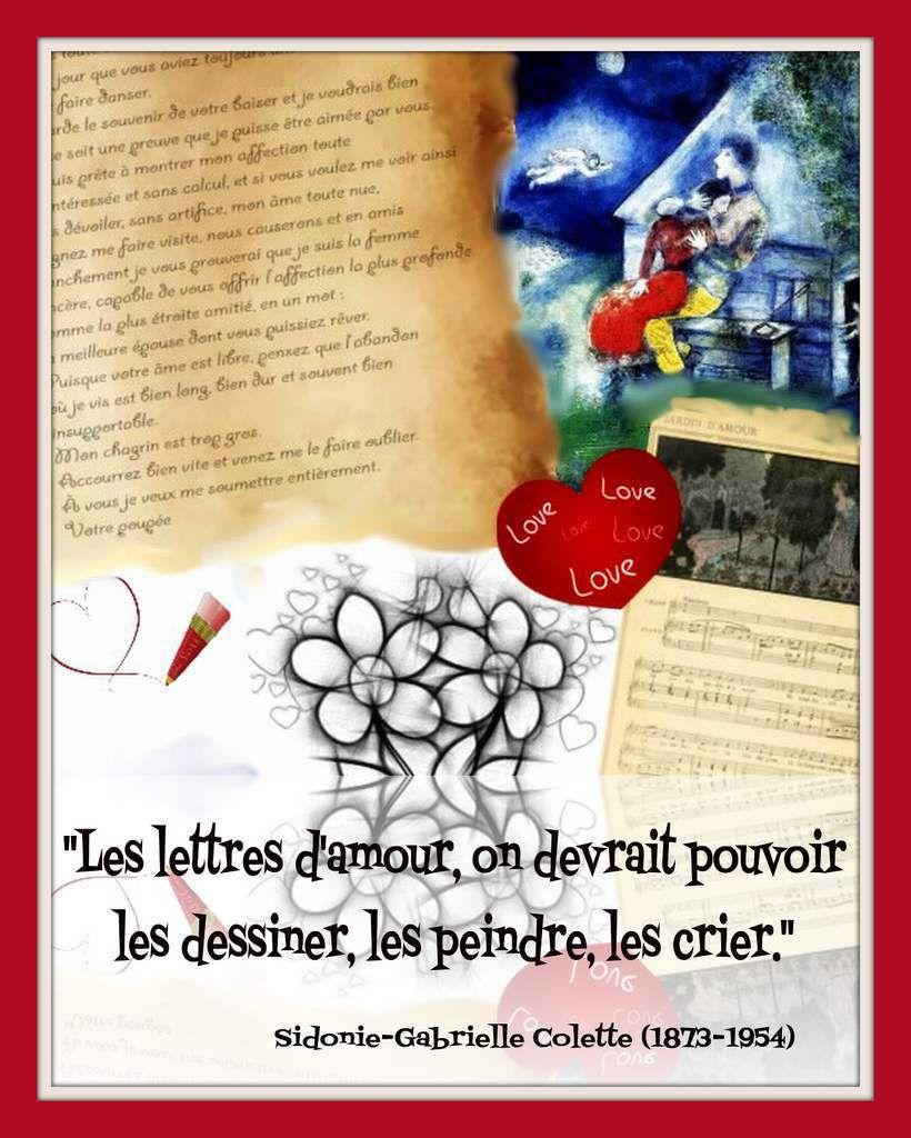 citation &quot&#x3B;amour&quot&#x3B; de Colette