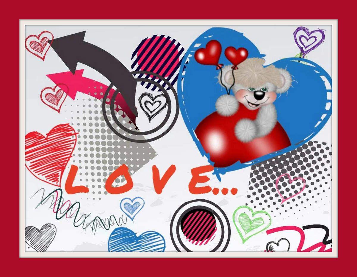 Carte &quot&#x3B;amour&quot&#x3B;