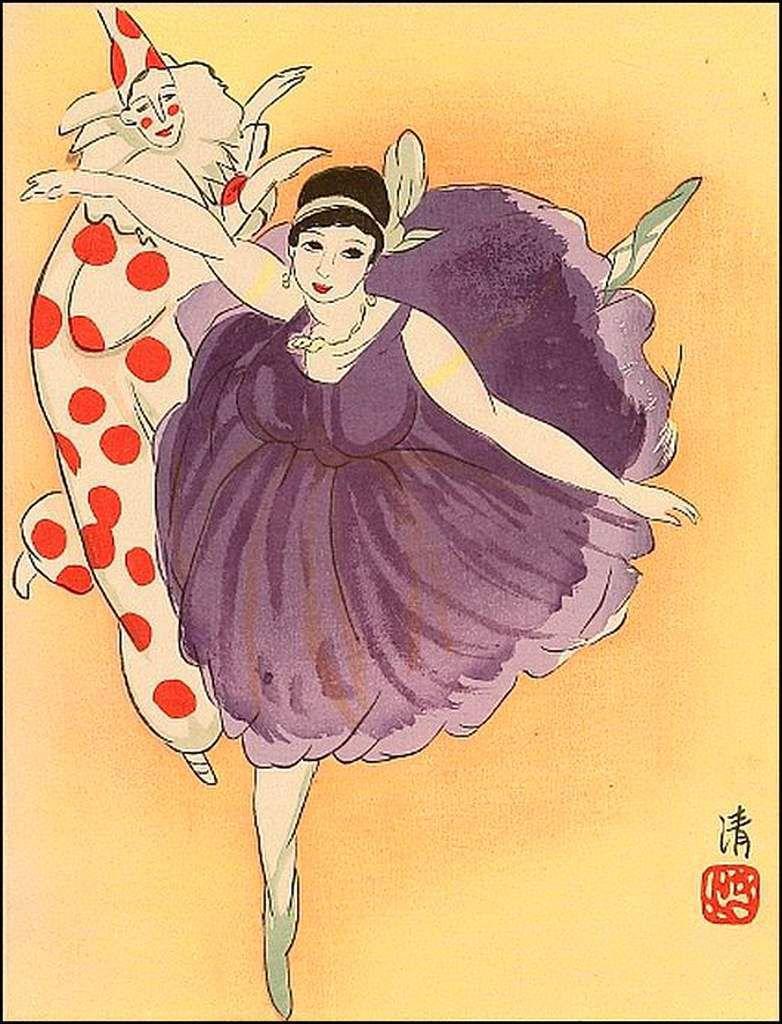 Danseuse et Pierrot