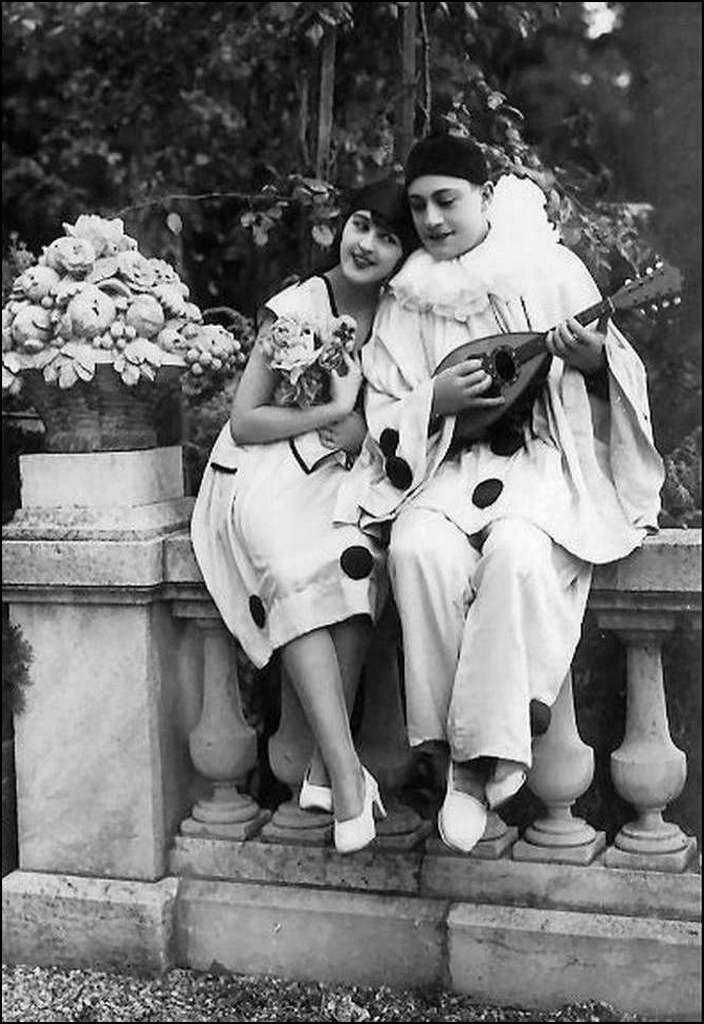vintage - Pierrot et colombine
