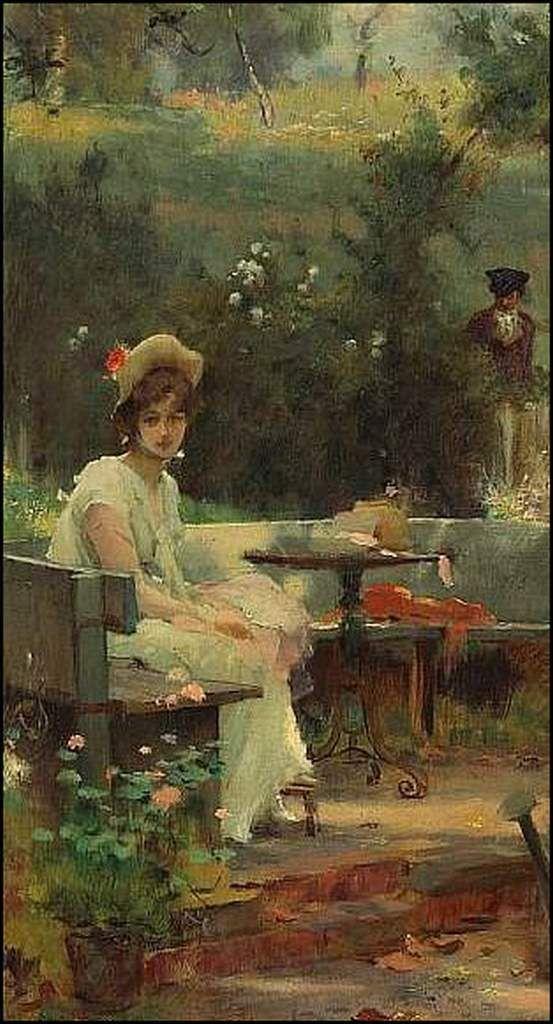 Femmes à chapeau par les grands peintres (284)