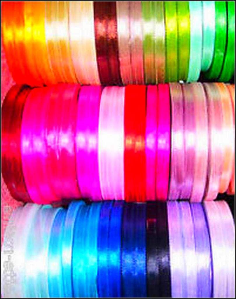 Les couleurs en images - rubans