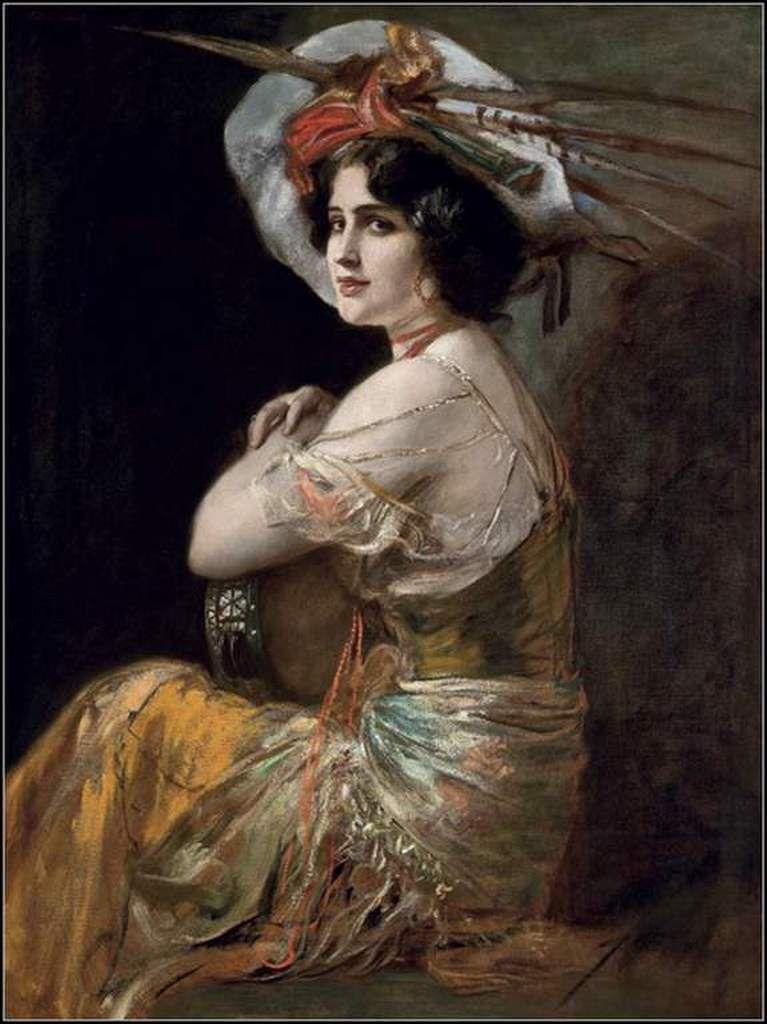 Femmes à chapeau par les grands peintres (306)