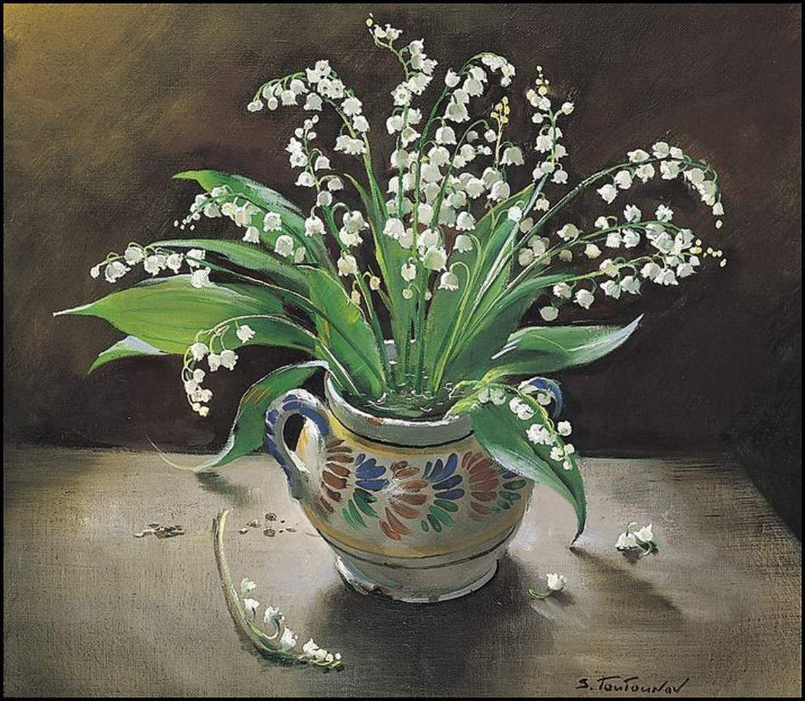 Le premier Mai - muguet en peinture - Sergei Tutunov (1925)