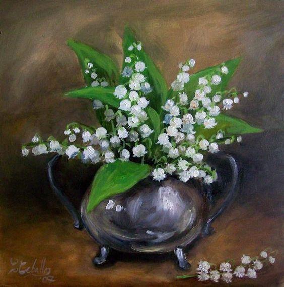 Le premier Mai - muguet en peinture - Cecilia Ceballos