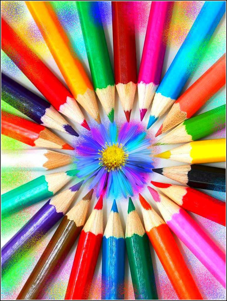 Les couleurs en images - crayons