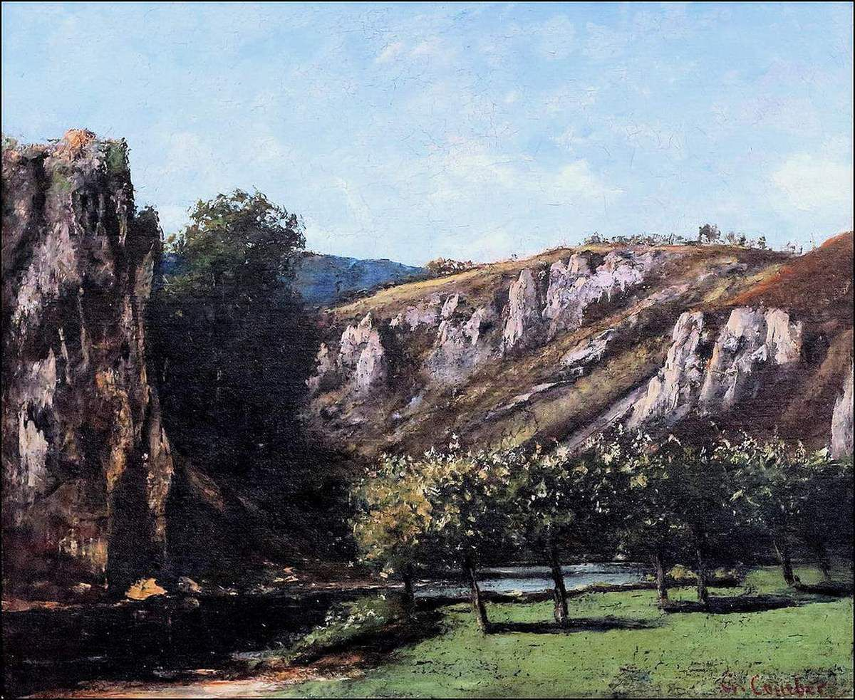 Gustave Courbet (1819-1877) Paysage comtois