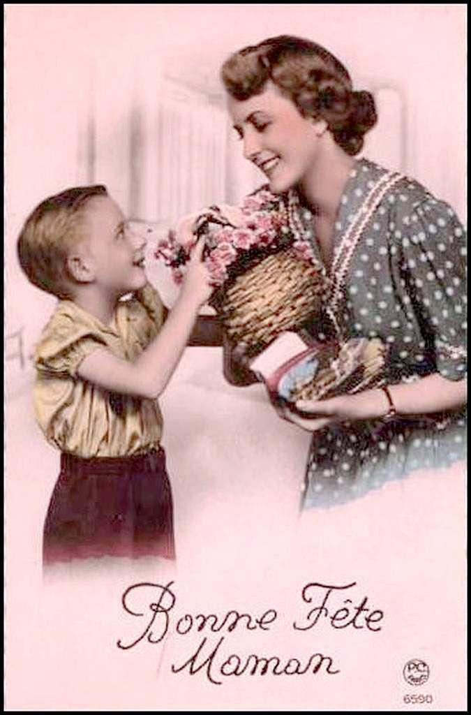 Vintage - cartes fête des mères