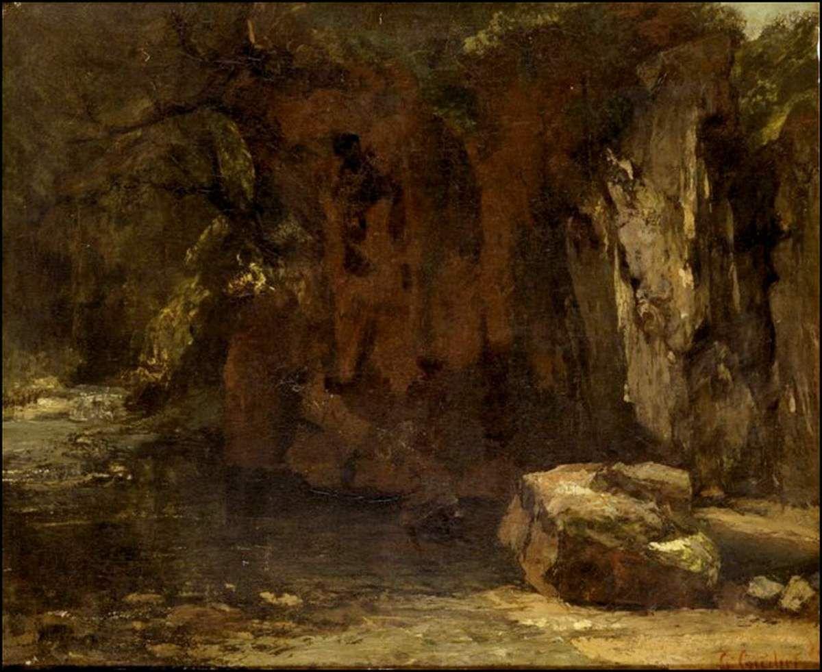 Gustave Courbet (1819-1877) Les falaises de la Loue