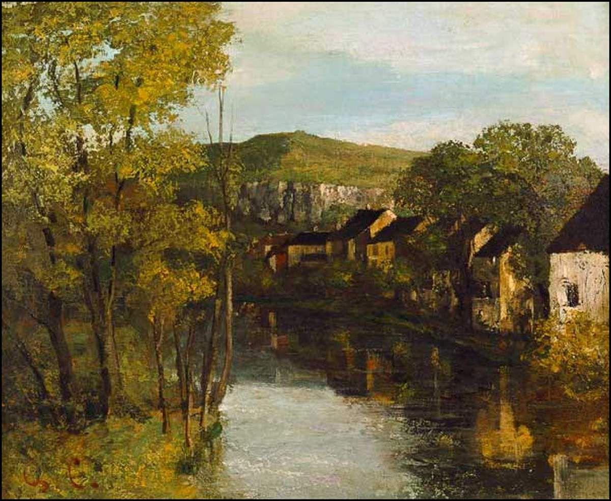 Gustave Courbet (1819-1877) La réflection sur la Loue à Ornans