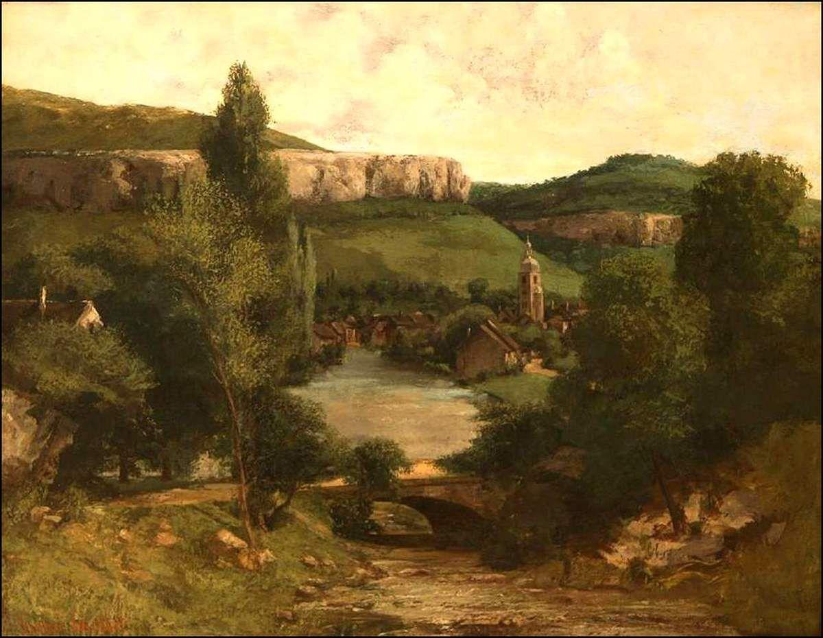 Gustave Courbet (1819-1877) Vue d'Ornans