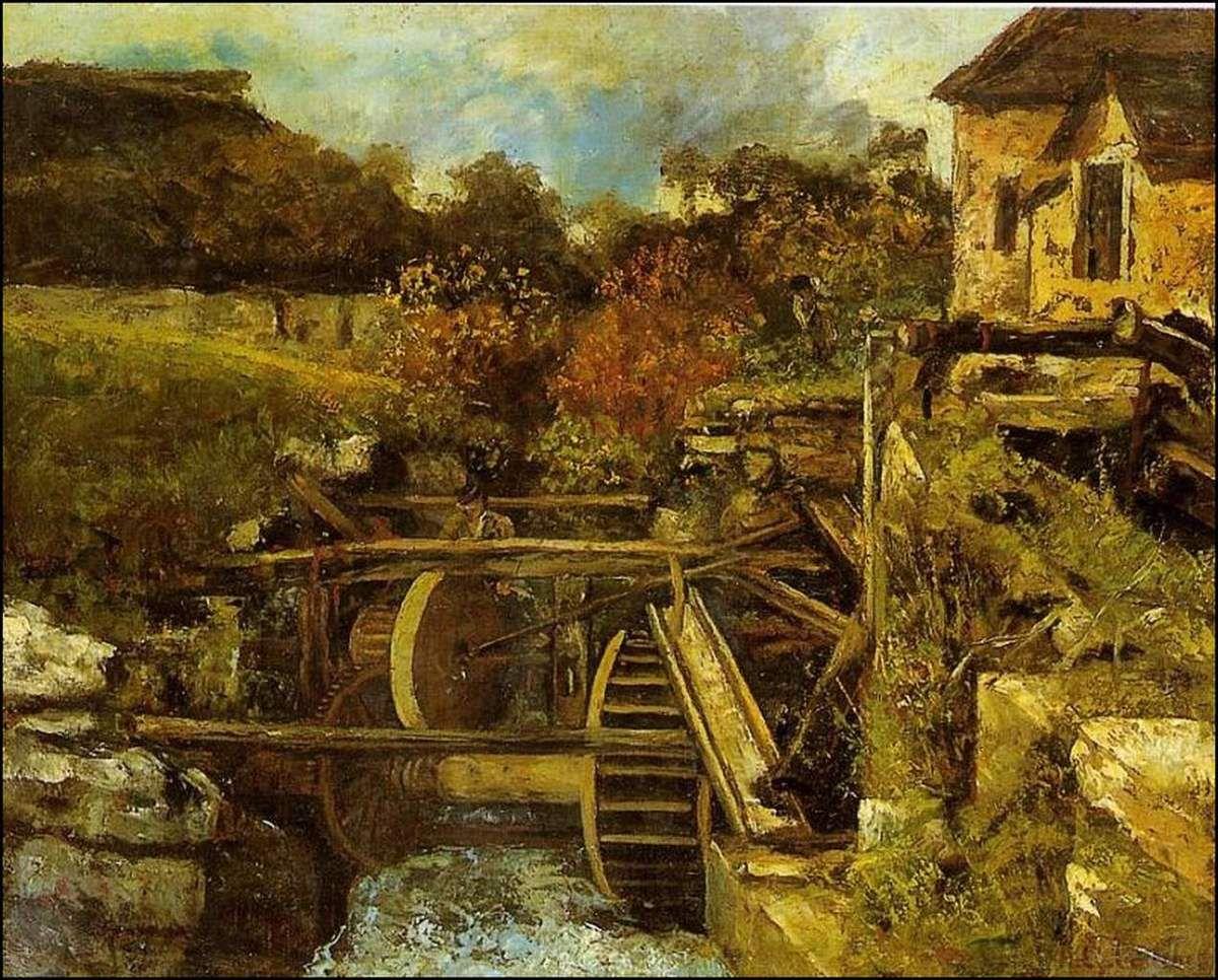 Gustave Courbet (1819-1877) Le moulin de la papeterie d'Ornans